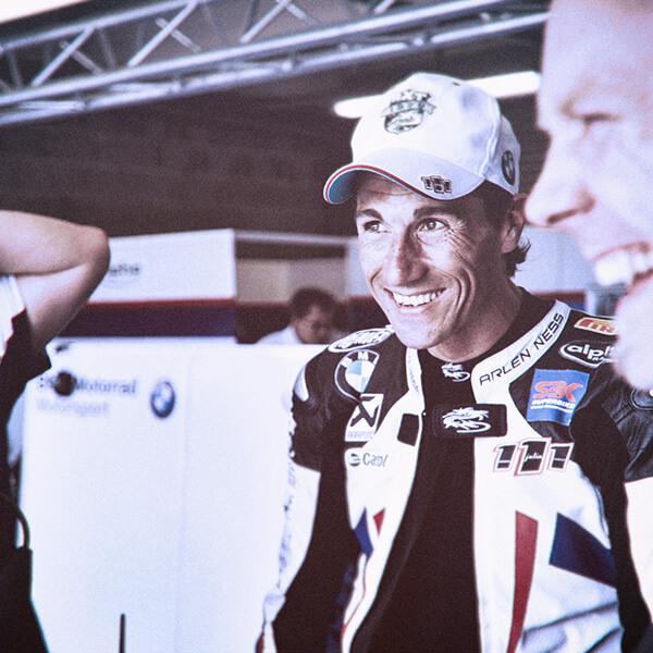 BMW Superbike Fahrer